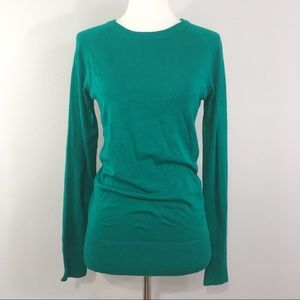 French Connection Teal Green Crew Neck Sweater